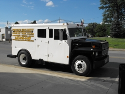 PROMOTIONAL VEHICLE 1991 FORD F700 ARMORED TRUCK